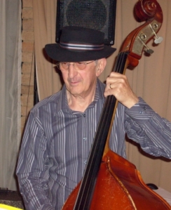 Harry Tambourlas playing with his jazz band