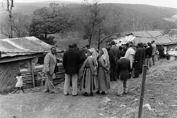 Mission team from post-ordination training group visiting Makhalafukwe, 16 September 1980