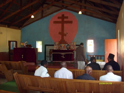 The interior of the African Orthodox Church in Atteridgeville