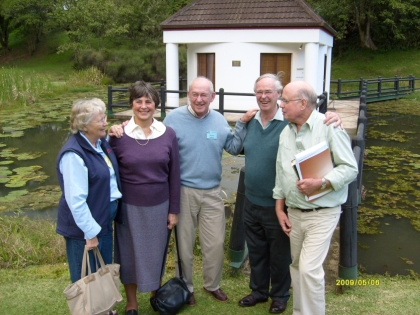 Carol (2nd from left) and Michael (2nd from right) Cassidy with friends at the chapel at the AE Centre.