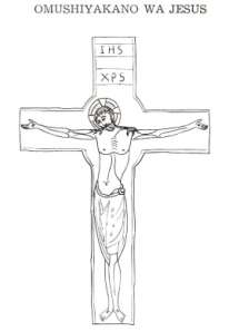 The crucifixion of Jesus, from Epukululo Lovawambo