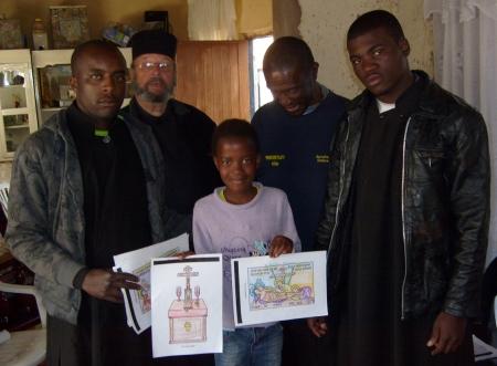 Dimitrius, Deacon Nektarius, Boikhutso Mangena, Artemius Mangena, Petros Pedro Tiago