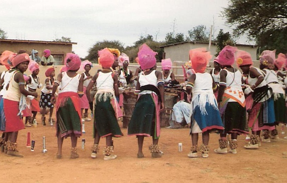 Traditional Pedi dancers at Marishane