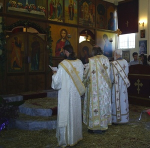 Three deacons serving together -- a rare sight in South Africa