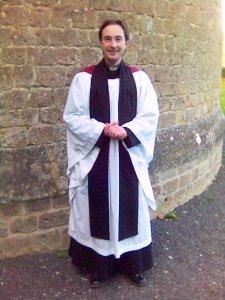 Anglican priest in choir habit