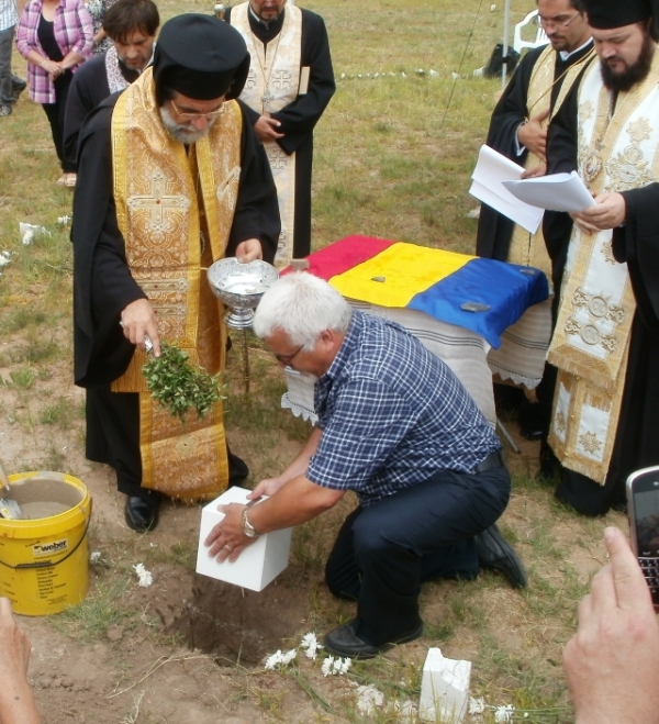Laying the foundation stone