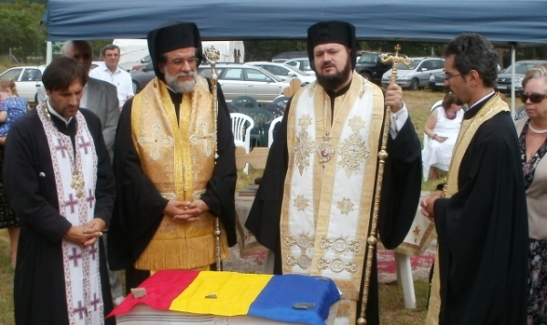 Fr George Cocotos, Archbishop Damaskinos, Bishop Petronius, Fr Razvan Tatu