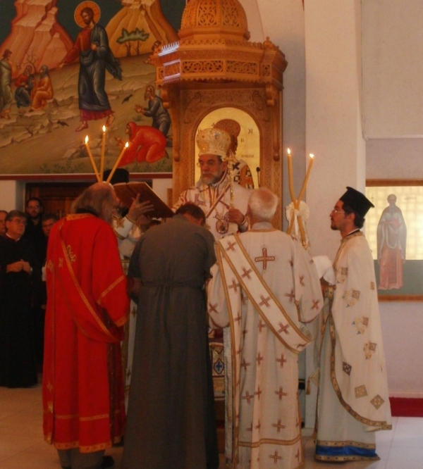At the beginning of the service he was ordained as a subdeacon
