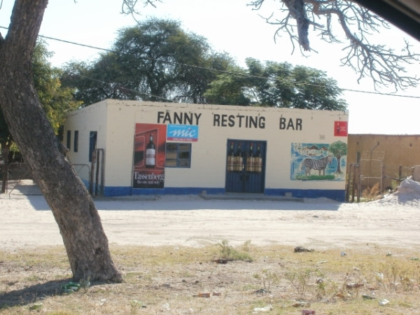 One of the many bars and shebeens alongside the main roads in Ovambioland, Namibia