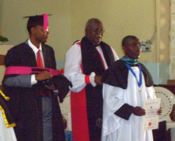 Graduation of TEE Students at St Mary's, Odibo, on 18 May 2013, Bishop Shihala Hamupembe presiding