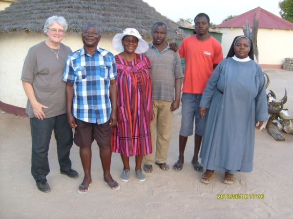Kakehongo family with Val Hayes and Sr Gertrude, CHN at Onekwaya, Namibia