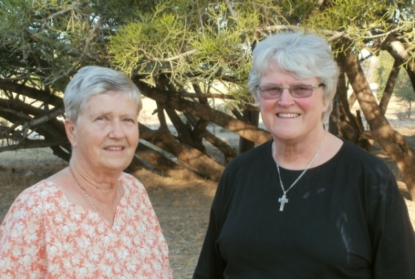 Nancy Robson and Val Hayes at Odibo May 2013