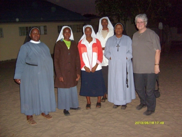 Two sisters from the Community of the Holy Namie in Lesotho who have been helping to establish an Anglican sisterhood in Ovamboland