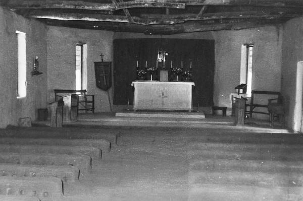 Interior of Holy Cross Anglican Church, Onamunama, September 1971