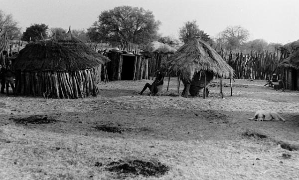 Ovambo homestead at Onamunama, September 1971