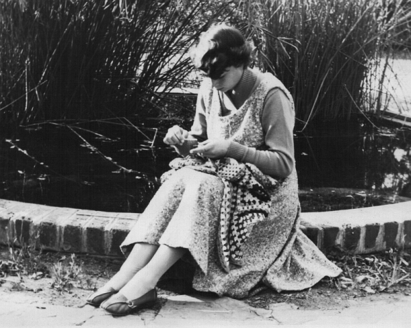 On retreat at St Benedicts: a quiet moment in the garden during the Wits University Anglican Society student retreat, August 1959