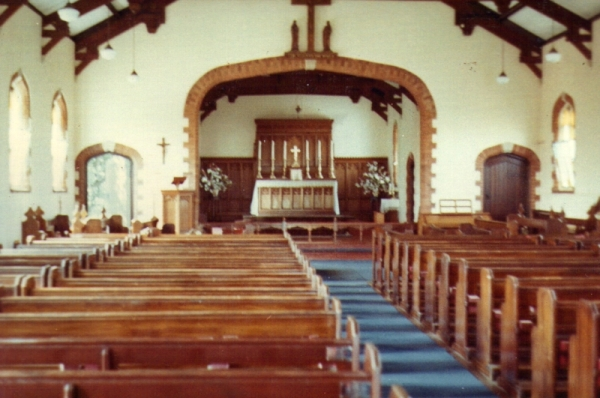 Interior of St Alphege's Church in the 1960s