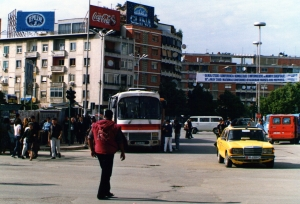 The public square in Tirana, Albania