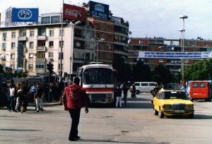The public square in Tirana, Albania