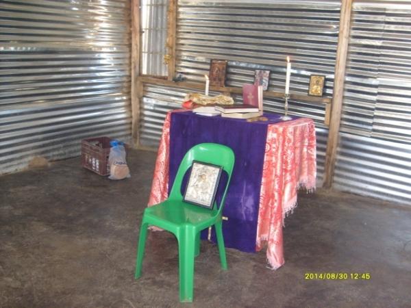 The interior of the church at Madidi.