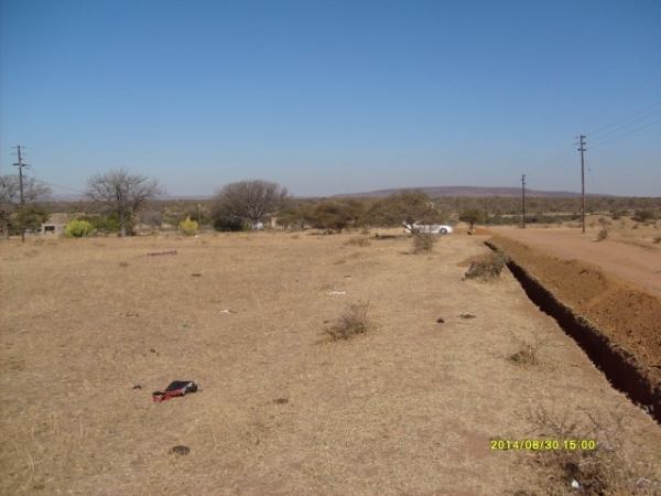 Some of the land that is availavle, and might be suitable for building a temporary church