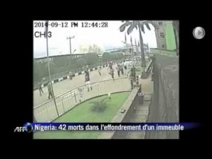 CCTV footage of the guest house collapse