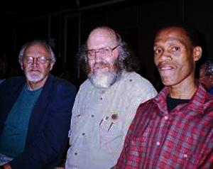 Jeff Guy, Steve Hayes & Thami Sibiya at a jam session at UKZN, Durban