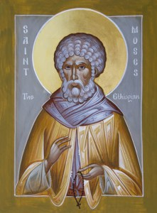 Icon of Saint Moses the Ethiopian by the hand of  Julia Hayes