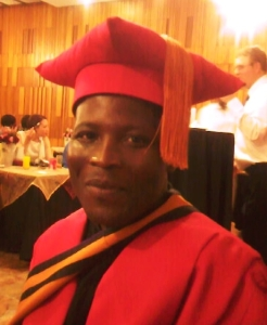 Fr Athanasius at his graduation at Unisa, 4 October 2010