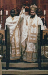 Axios! Ordination of Fr Athanasius to the priesthood at Pantanassa Church, Melrose, Johannesburg, by Archbishop Seraphim of Johannesburg and Pretoria. 14 July 2002