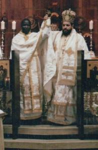 Axios! Ordination of Fr Athanasius to the priesthood at Pantanassa Church, Melrose, Johannesburg, by Archbishop Seraphim of Johannesburg and Pretoria. 14 July 2002