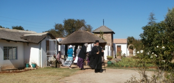 Buildings at the monastery at Gerardville that armed robbers broke into.
