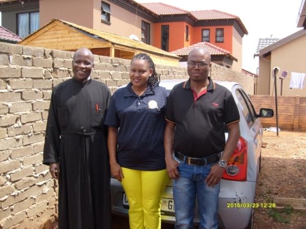 Fr Athanasius Akunda, Johanna Ramohlale, Simon Shabangu, 23 March 2015
