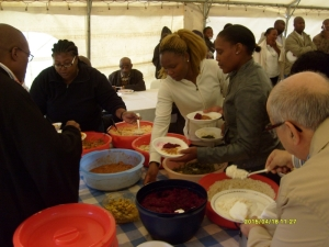 The brunch was prepared by Grace & Hellen Malahlela