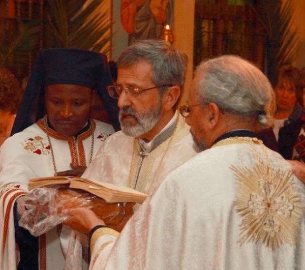 Fr Athanasius, Fr Gerasimos, Fr George (Photo by Jethro Hayes)