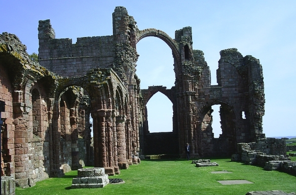 Ruins of the monastery at Lindisfarne, an important missionary centre in England. It was forcibly closed on the orders of King Henry VIII in the 1530s.