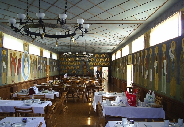 The refectory at the Monastery of St John the Baptist