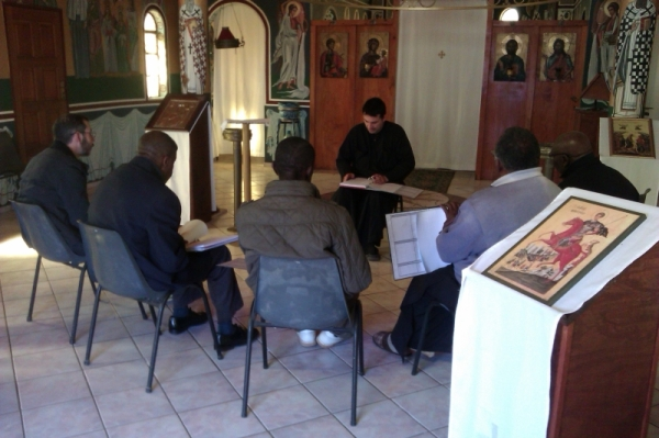 Fr Elias teaching during the readers' course