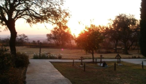Sunset in the monastery garden