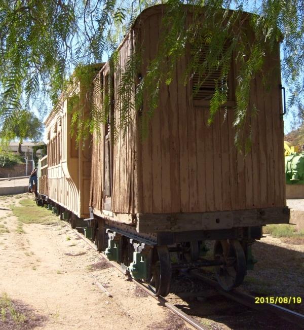 Narrow-gauge train at Nababeep
