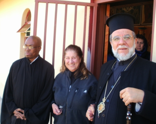 Simon Shabangu, Thomae Cavaleros and Archbishop Damaskinos