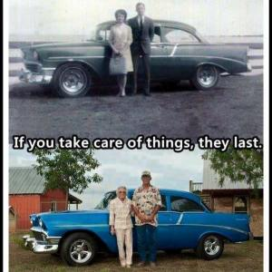 "This was posted on Facebook by Logan Wagoner with the comment ""Same car, same woman. Wish the world understood this."" The car would have been a familiar sight in the setting of this book. So what's changed? The clothes."