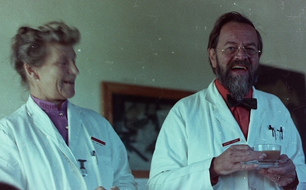 Maggie and Anthony Barker, Charles Johnson Memorial Hospital, Nquthu, 1972