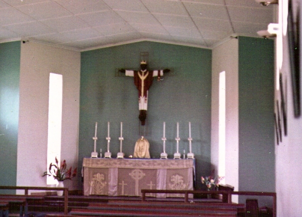 The Chapel at Charles Johnson Mem,orial Hospital, Nqutho, Zululand, in 1965, when it was still a church hospital