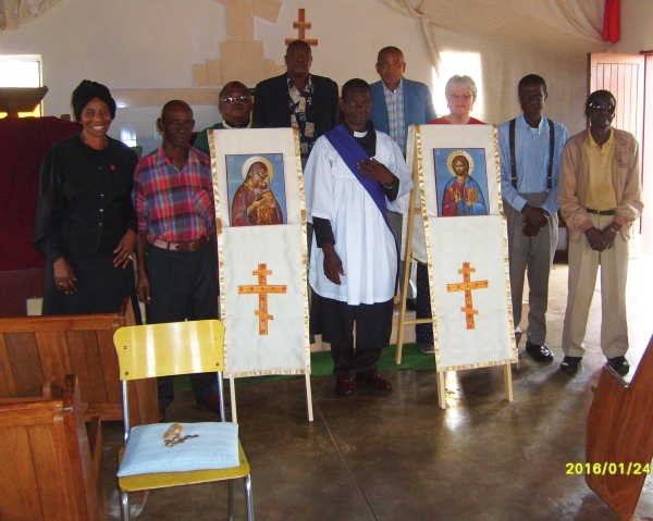 Atteridgebill congregation after the blessing of the ikons and ikon stands