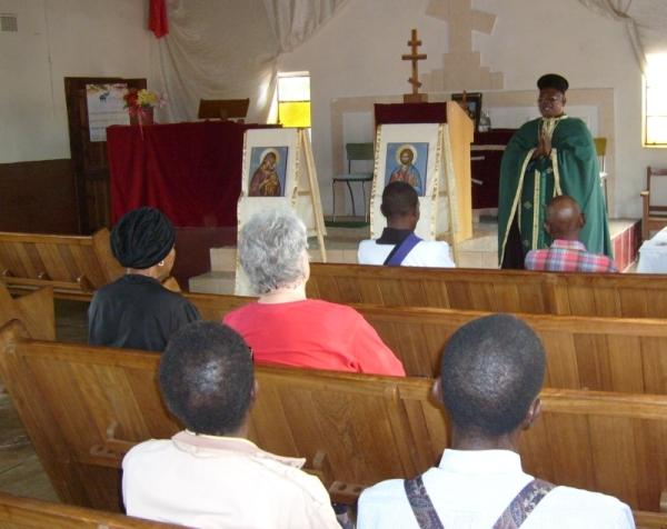 Fr Frumentius Taubata preaching at Atteridgebille
