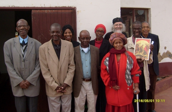 After the Hours and Readers Service in Atteridgeville, Easter Sunday morning, 1 May 2016