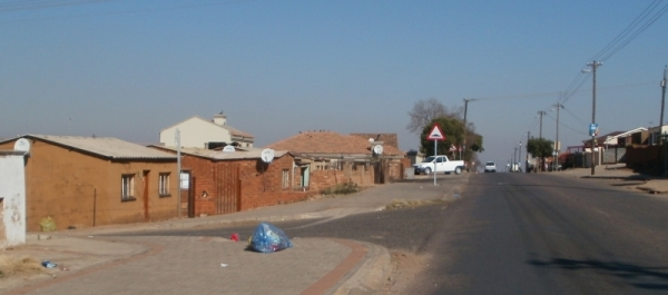Atteridgeville streets, quiet on a Sunday morning