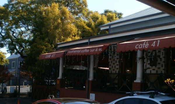 Cafe 41, venue for our month;y book discussions