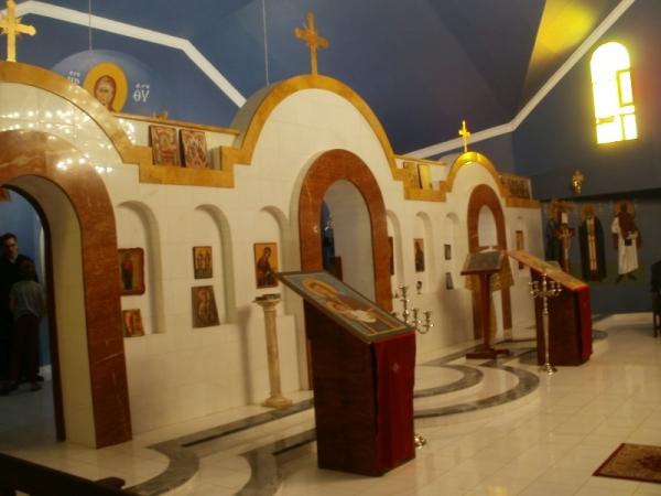 The ikonostasis of St Theodore of Tyre Church, Stilfontein